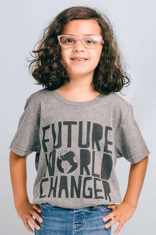 Future World Changer Kids Statement Tee Grey