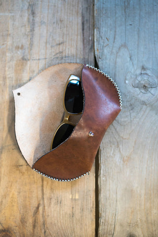 Handmade Leather Sunglass Case