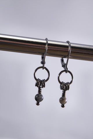 Sudara Mocha Mama Labradorite Earrings