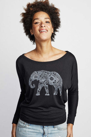 Sudara Magic Elephant Long Sleeve Black
