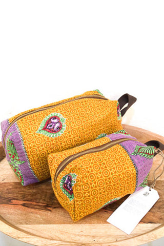 Mota Makeup Bag Set - Sunset Fire Series