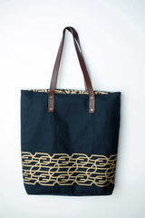 Mulxiply Black Abstract Tote
