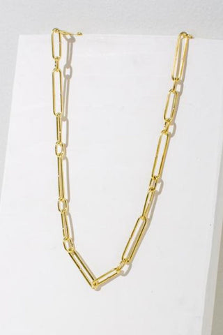 Loop Necklace - Brass