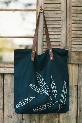 Mulxiply Feather Navy Tote