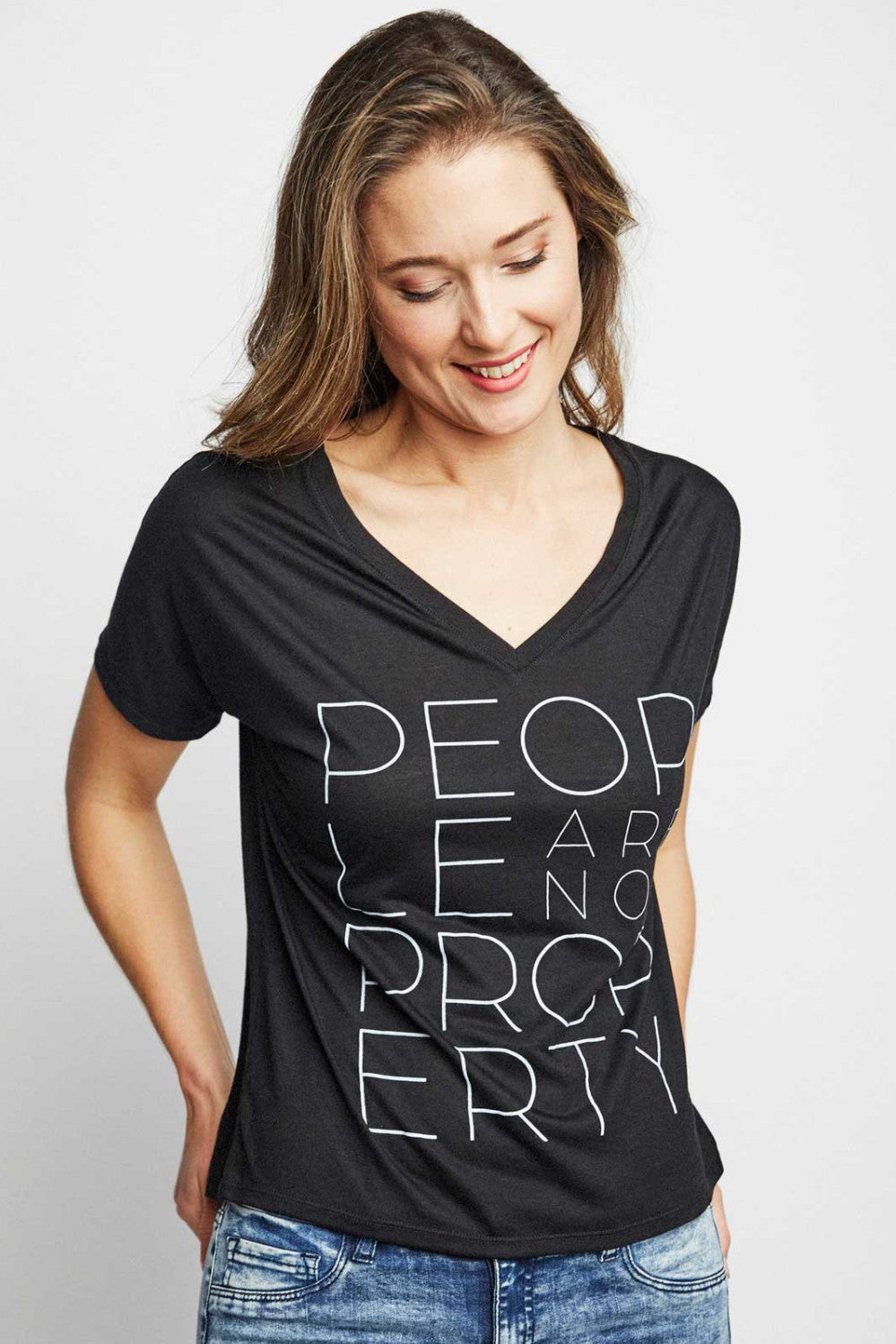 Sudara People Are Not Property Tee Black