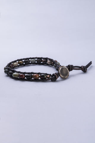 Mocha MaMa Picasso Single Wrap Bracelet