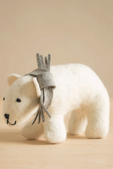 Handfelted Stuffed Animals Polar Bears
