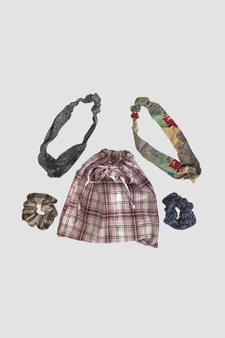Sudara Print Headband & Scrunchies Set (Small Set)