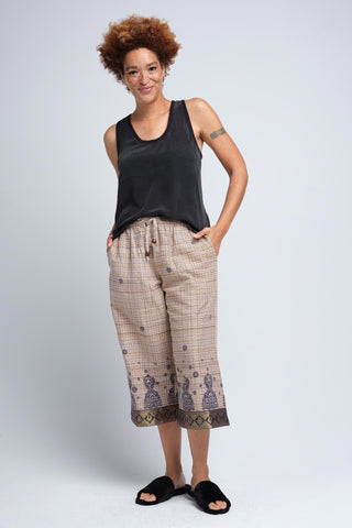 Jatha Brushed Cotton Pajamas Capris for Women