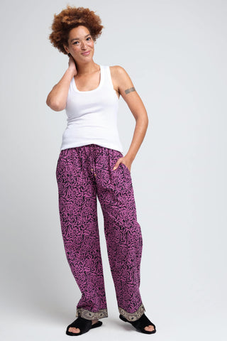 Kaveri Women's Purple Loungewear Pants
