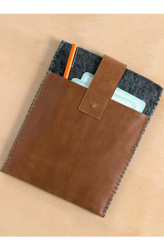 Sudara Mulxiply Leather Felt Tablet Sleeve