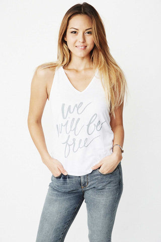 We Will Be Free Tank-White