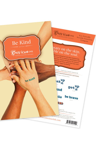 Manifestation Word Tattoos-Be Kind