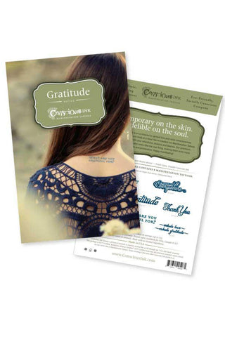 Conscious Ink Gratitude Temporary Tattoo Kit