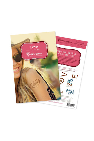 Manifestation Word Tattoos-Love