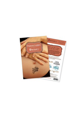 Manifestation Word Tattoos--Pregnant Goddess