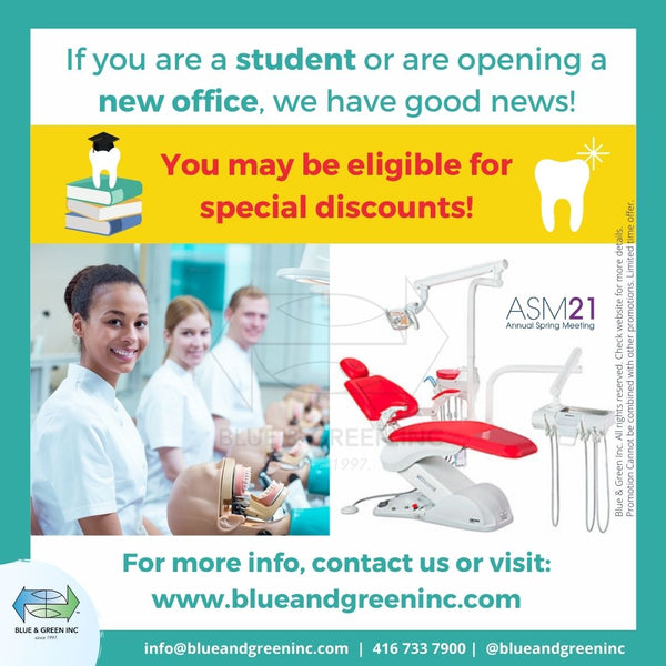 New office and dental students discount