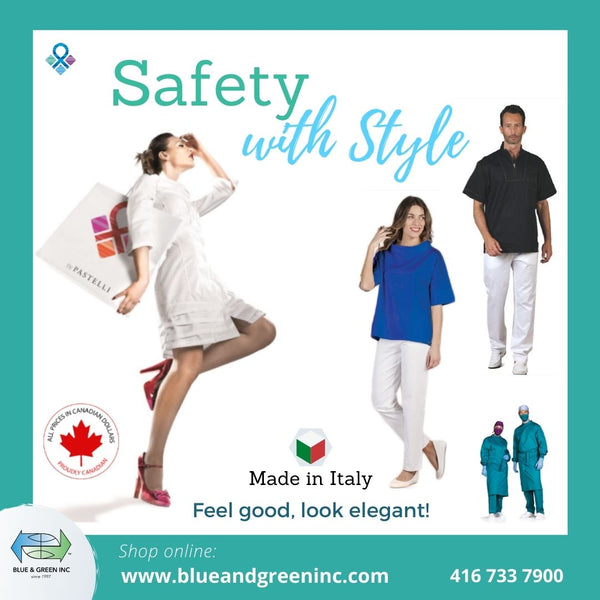 Safety with style! High-quality Uniforms for men and women only at www.blueandgreeninc.com