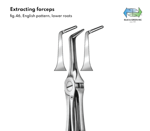 Extracting Forceps, Lower roots (Z 065-46) Forceps - Blue & Green Inc.