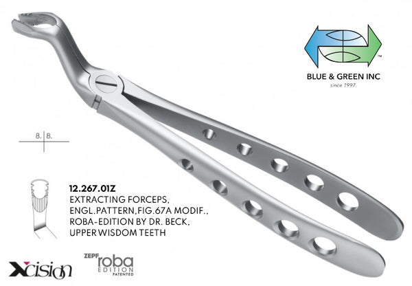 Roba Extraction Forceps Upper Wisdom Teeth 12 267 01z