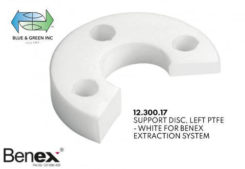 Support Disc, Left for Benex Extraction System (12.300.17) Benex part - Blue & Green Inc.