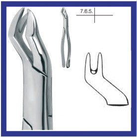Cowhorn Extraction Forceps, Upper Molars Left Side (14.088.16) Forceps - Blue & Green Inc.