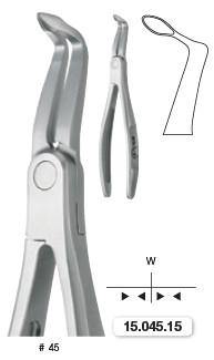 Extraction Forceps, Lower Roots EXLOG (15.045.15) Forceps - Blue & Green Inc.