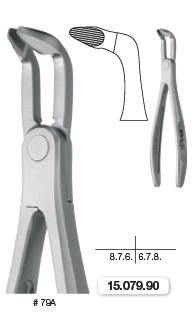 Extraction Forceps, Lower Molars and Wisdom Teeth EXLOG (15.079.90) Forceps - Blue & Green Inc.
