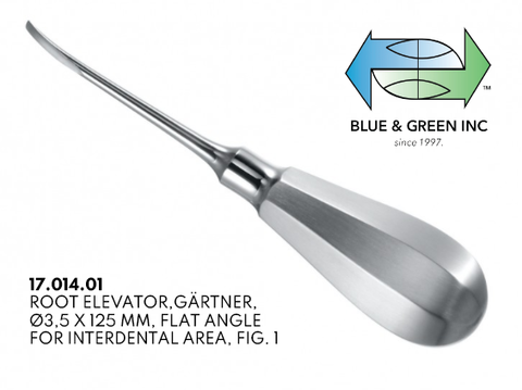 Gartner Root Elevator, 3.5mm (17.014.01) Elevator - Blue & Green Inc.