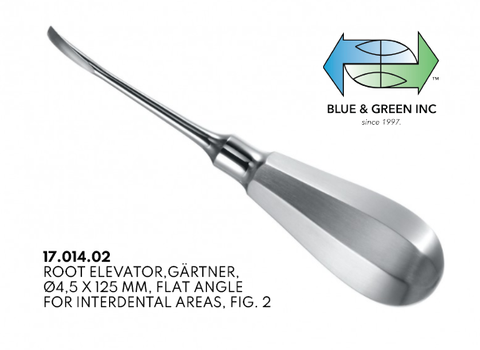 Gartner Root Elevator, 4.5mm (17.014.02) Elevator - Blue & Green Inc.