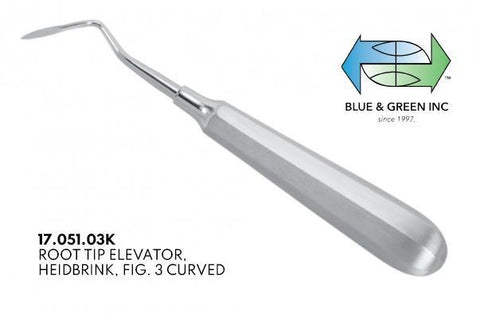 Heidbrink Root Tip Elevator (17.051.03K) Elevator - Blue & Green Inc.