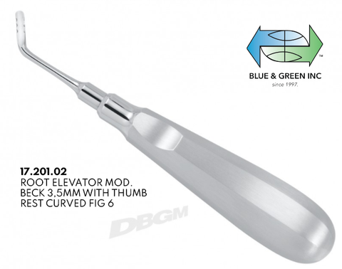 Root Elevator, Luxator 3.5mm, Offset Right (17.201.02) Elevator - Blue & Green Inc.