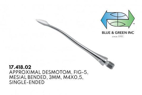 Exchangeable Approximal Desmotome, Mesial Bended, 3mm (17.418.02)  - Blue & Green Inc.