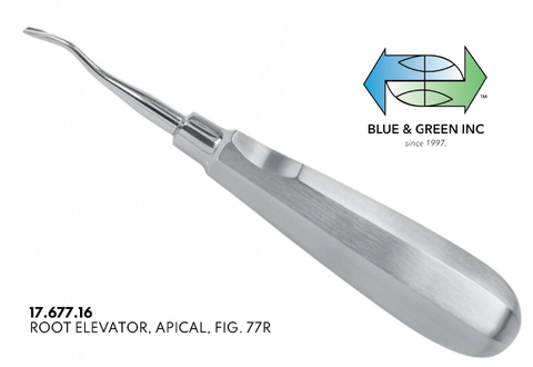 77R Apical Root Elevator (17.677.16) Elevator - Blue & Green Inc.