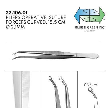 Suture Forceps (22.106.01) Suture Forceps - Blue & Green Inc.