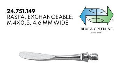 Raspa, Exchangeable, 4.6mm (24.751.149) Curette - Blue & Green Inc.