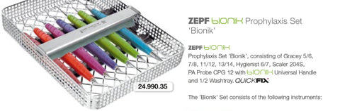 "BIONIK Prophylaxis Set ""Bionik"" (24.990.35) Hygiene -Scaler - Blue & Green Inc."