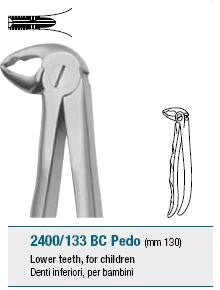 Childrens Forceps, Lower Teeth (2400/133 BC) Forceps - Blue & Green Inc.