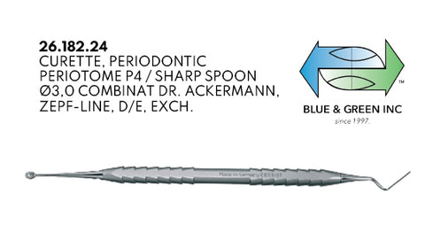 Double Ended Periotome (26.182.24) Periotome - Blue & Green Inc.