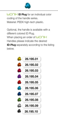 BIONIK ID Plug Color Coding (26.195.01-10) Handle - Blue & Green Inc.