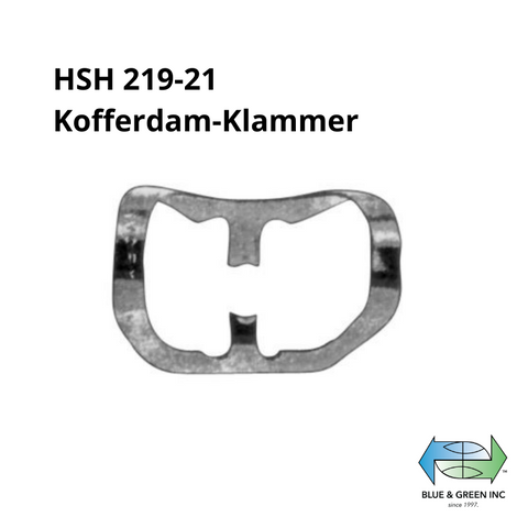 Rubber-dam clamp (HSH 219-21) Rubber dam Clamp - Blue & Green Inc.