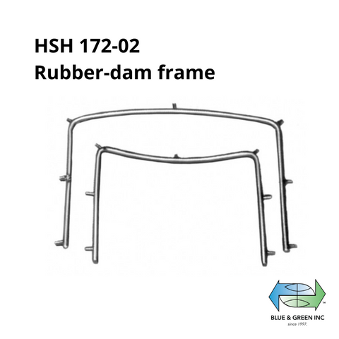Rubber-dam frame (HSH 172-02) Rubber dam Clamp - Blue & Green Inc.