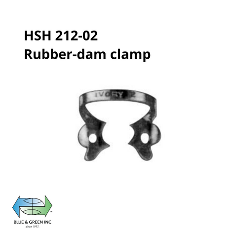 Rubber-dam clamp (HSH 212-02) Rubber dam Clamp - Blue & Green Inc.