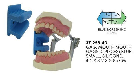 Mouth Prop (37.258.40 & 37.258.43) Mouth Gag - Blue & Green Inc.