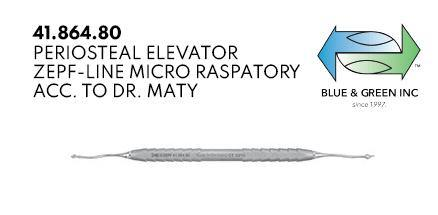 Periosteal Elevator, Micro Raspatory (41.864.80) Periosteal Elevator - Blue & Green Inc.