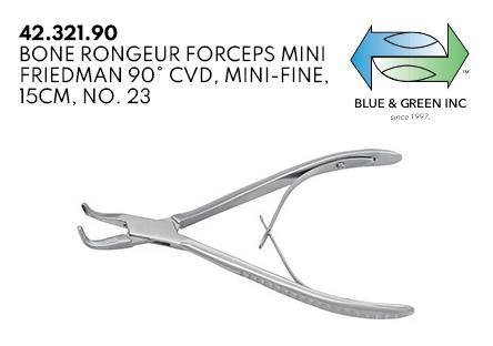 Mini Friedman Bone Rongeur Forceps (42.321.90 ) Rongeurs - Blue & Green Inc.