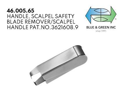Safety Blade Remover (46.005.65) Blade Holder - Blue & Green Inc.