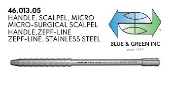 Micro-Surgical Scalpel Handle (46.013.05) Handle - Blue & Green Inc.