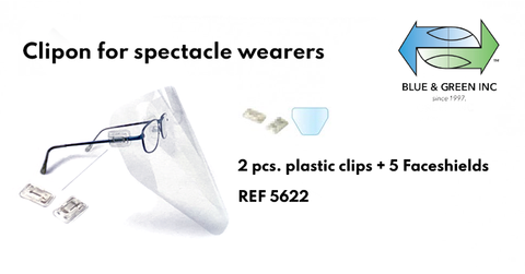 Refill Clipon for spectacle wearers (5622) clip on - Blue & Green Inc.