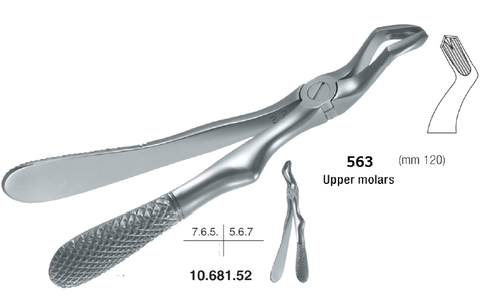 Childrens Forceps, Upper Molars (10.681.52) Forceps - Blue & Green Inc.